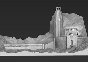 printing helm deep lord 3D model