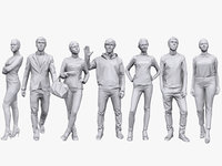 3D people casual pack 11 model