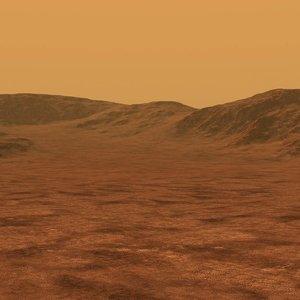 3D mars surface scene terrain landscape
