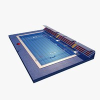 3D model water polo pool