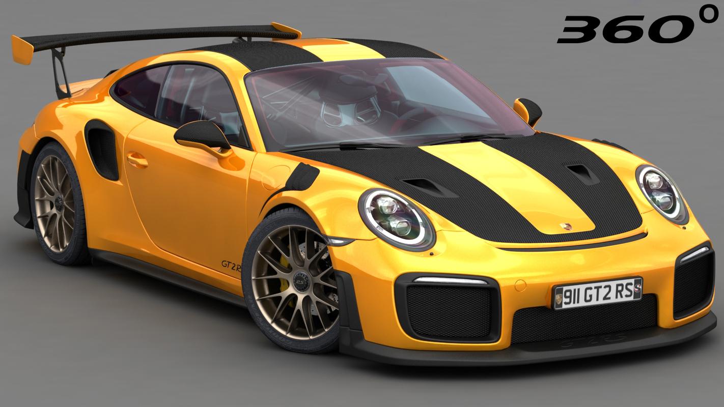 3D porsche 911 gt2 rs model