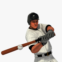White Baseball Batter HQ