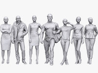 3D model people casual pack 13