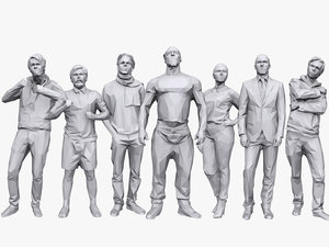 3D people casual pack 14 model