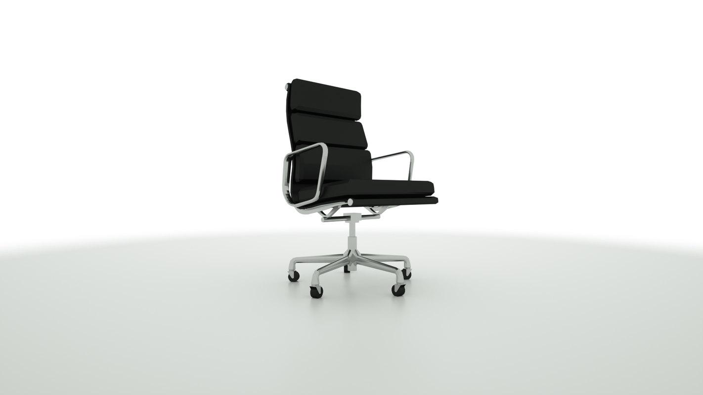 clean modern office chair 3D model