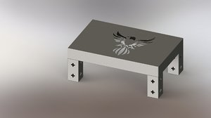 3D modeled metal picture