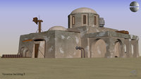 tatooine building 3D model