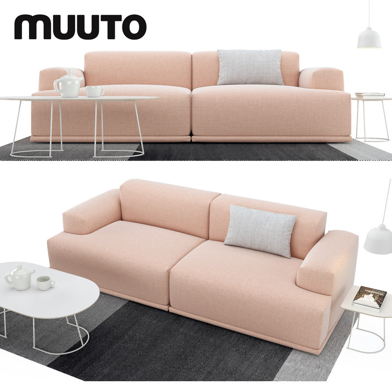 3D model muuto sofa set tables