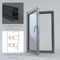 interior exterior window 3D model