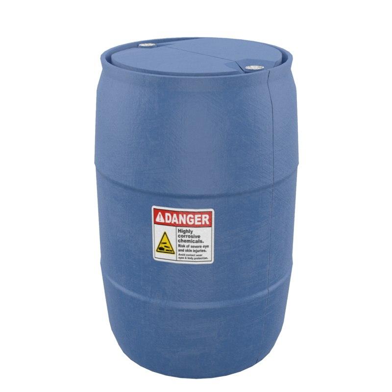plastic barrel 3D