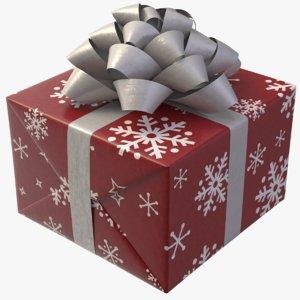 realistic gift box 02 3D model
