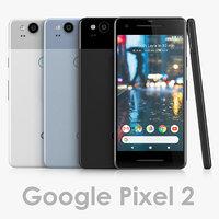 3D google pixel 2 model