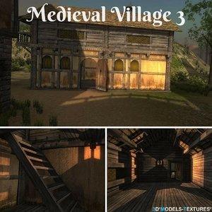 3D model medieval village