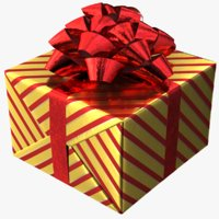 3D realistic gift box 02