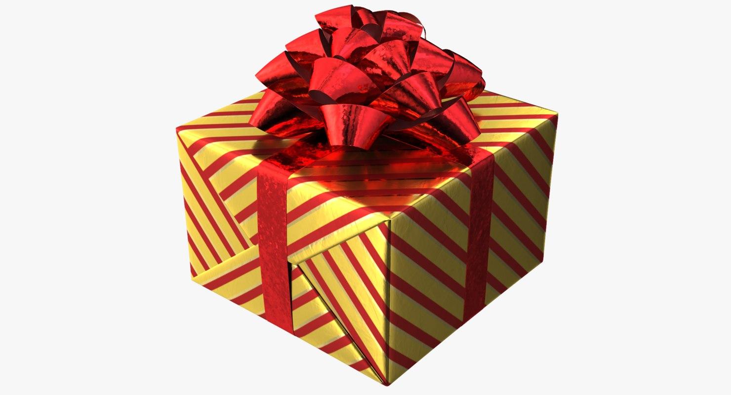 3D realistic gift box 02