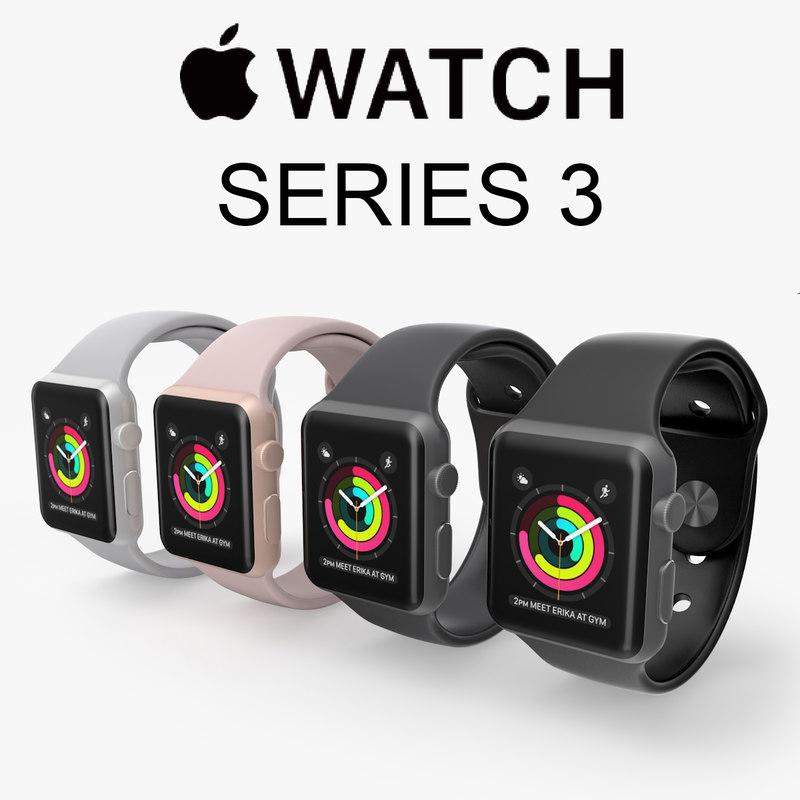 3D apple watch series 3 model