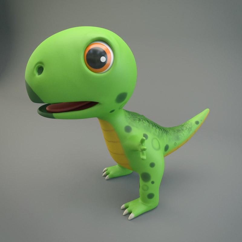 dinosaur cartoon 3D model