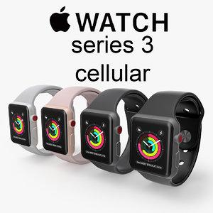 apple watch cellular series 3D