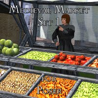 marketplace market poser 1 3D model