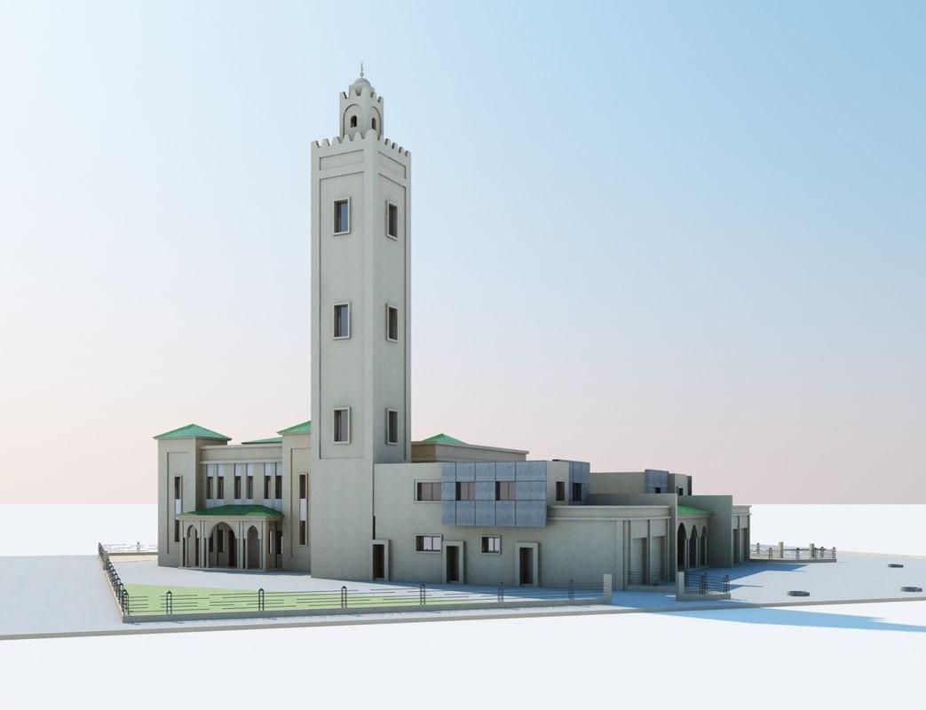 islamic mosque moroccan model