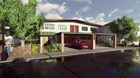 3D model render casa adosadas