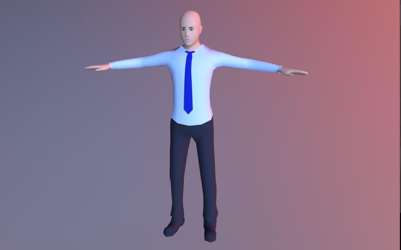 bus driver 3D model