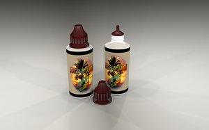 juice bottles e 3D model