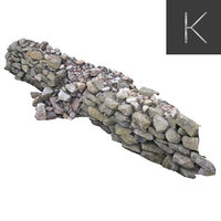 dry stone wall model