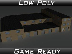factory building 35 3D model