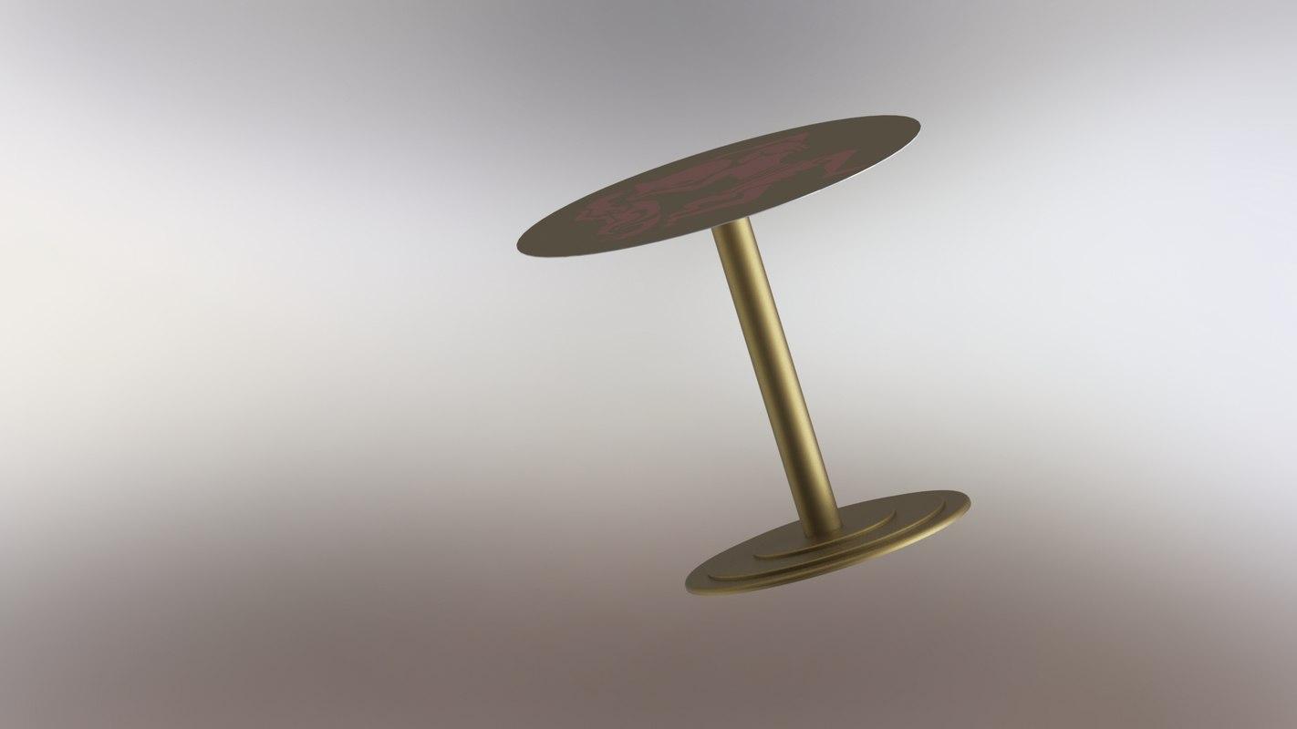 3D modeled metal decor model