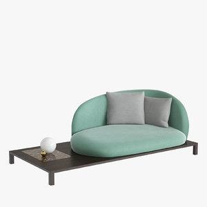 bonsai sofa arflex 3D model