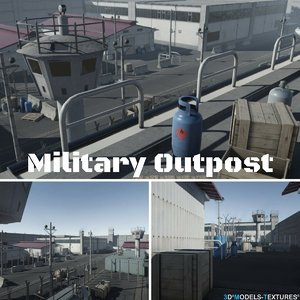 3D model military outpost