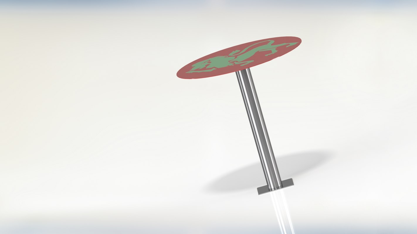 3D modeled metal decor