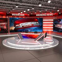 3D news studio model