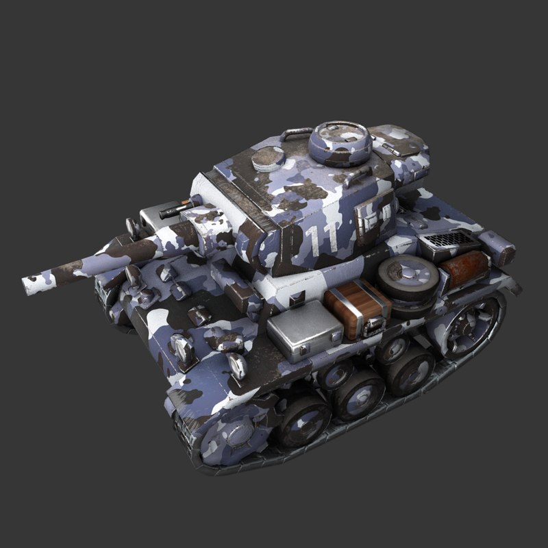 cartoon panzer iii 3D model