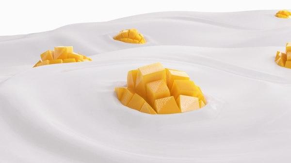 mango slice 3D model