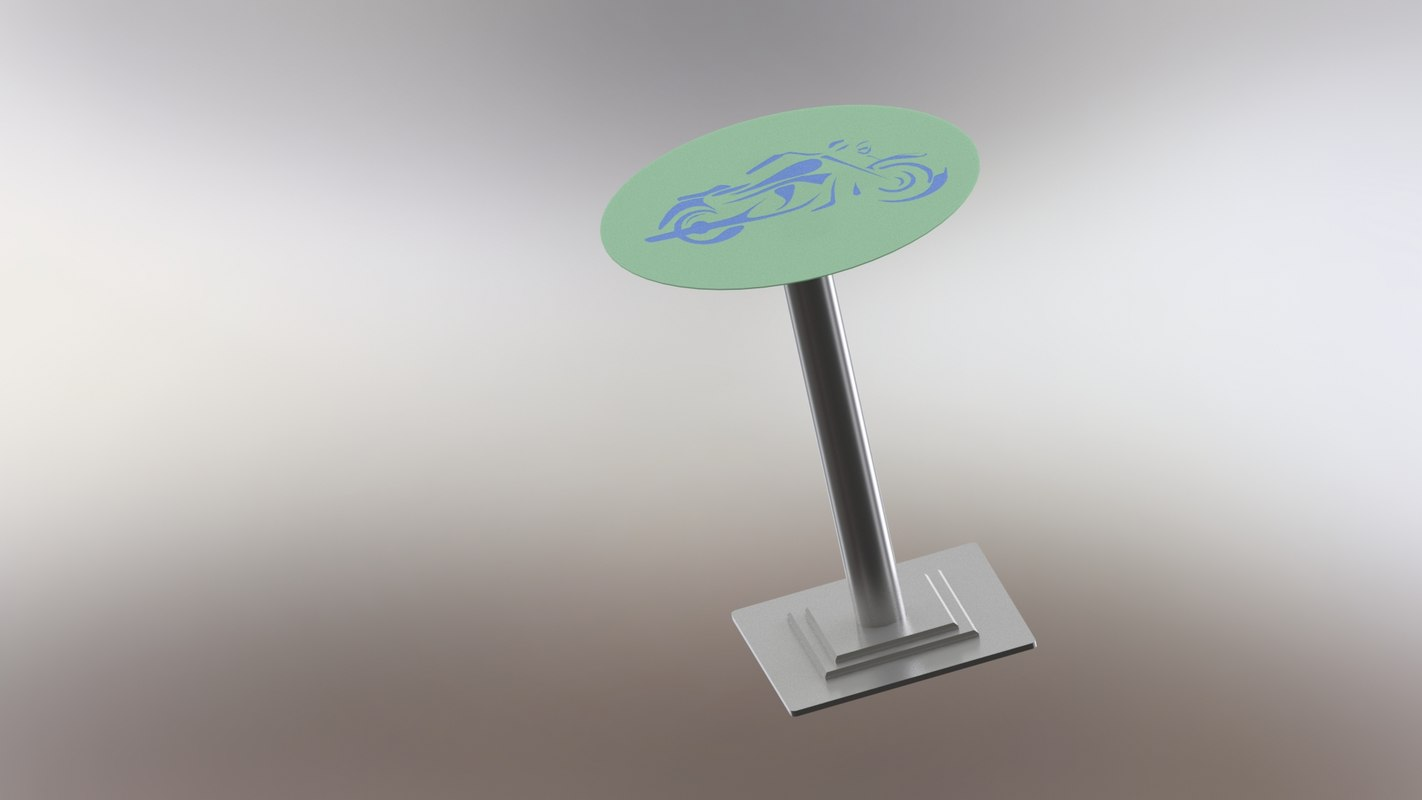 motorcycle table 3D model