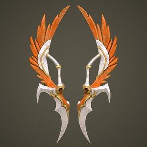 3D fantasy sword 10 model