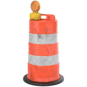 3D barrel barricade 1