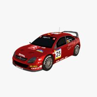 3D model citroen xsara rallye catalunya