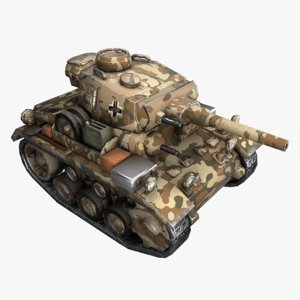 cartoon panzer iii 3D