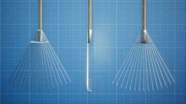 garden rake 3D model