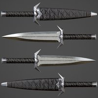 ready assassin knife pbr 3D