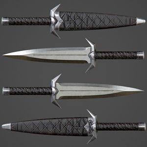 ready assassin knife pbr 3D