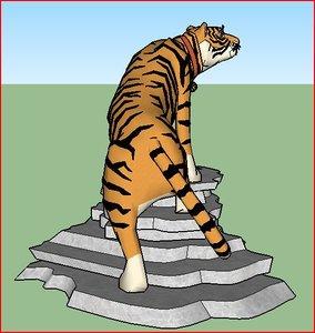 asiatic tiger 3D model