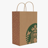 starbucks paper bag 3D model
