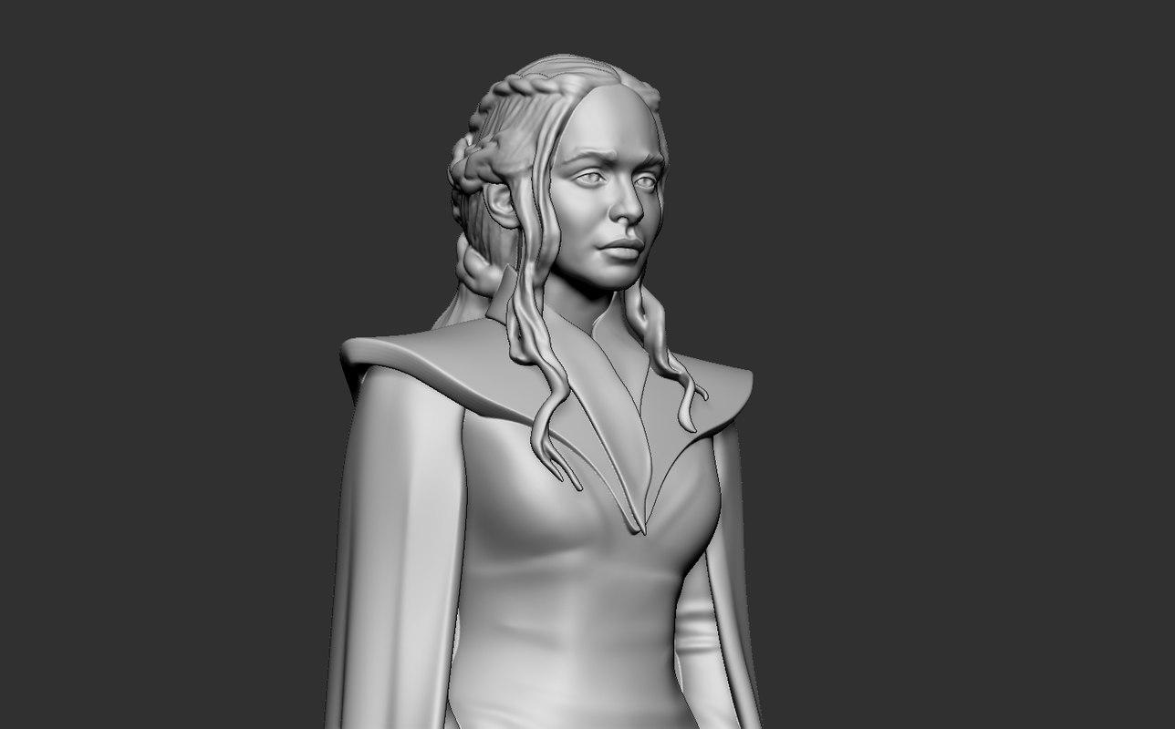 daenerys targaryen 3D model