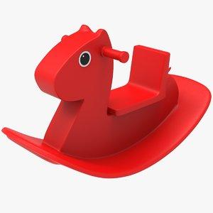 3D rocking horse model