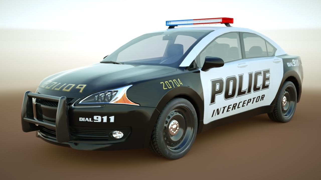 generic police sedan v11 model