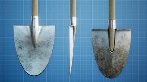 garden shovel 3D